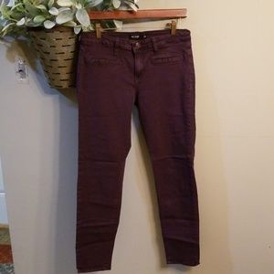 Plum colored skinny jeans